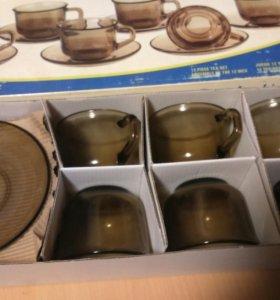Чашки с блюдечками для кофе