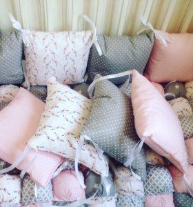 Бортики, конверт, одеяло бон бон, балдахин