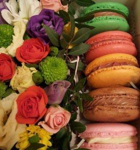Сладкий подарок с цветами!