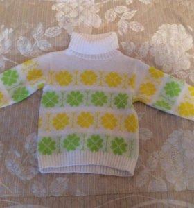 Уютный свитерок с горлом 4-5 лет