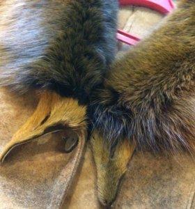 Дубленка из меха лисы