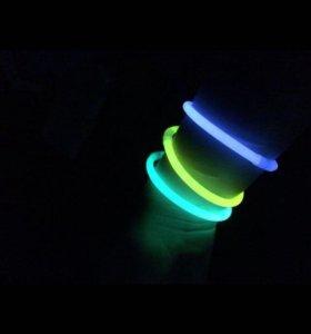 Светящиеся неоновые палочки-браслетик