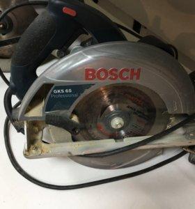 Дисковая пила Bosch GKS65