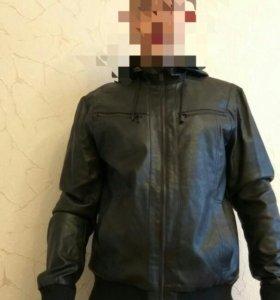 Новая кожаная куртка XL