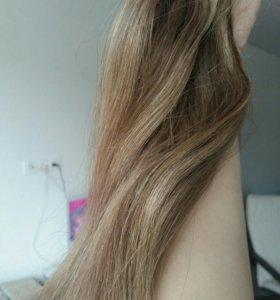 Натуральные волосы на клипсах.