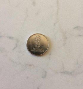 Монета 25 р 2018 г