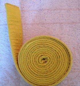 Жёлтый пояс для единоборств