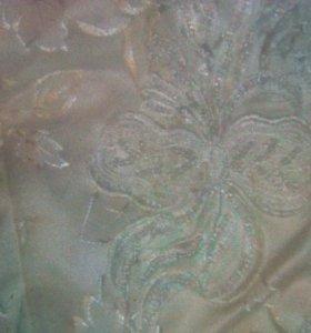 Платье белая парча