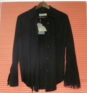 Рубашка женская UTERQUE (кожа, размерM, новая)
