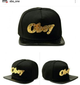 Snapback OBEY Black Leather