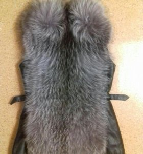 Меховая натуральная жилетка