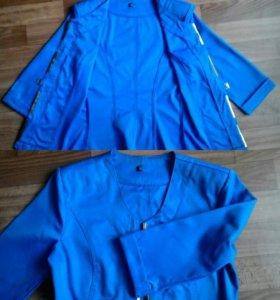 Пиджак,рубашка в клетку
