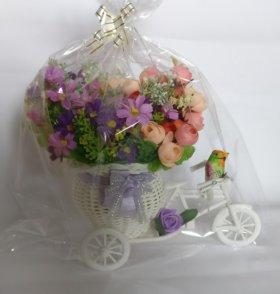 Велосипед кашпо с цветами