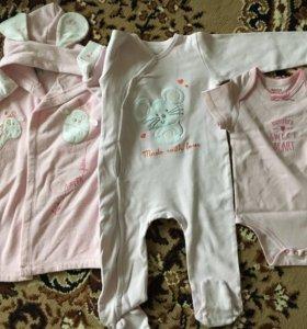 Одежда пакетом для девочки (6-18 мес.)