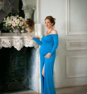 Платье для беременных для фотосессии и торжеств