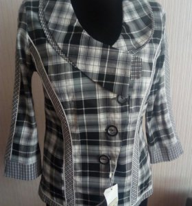 Пиджак-блузка р.46