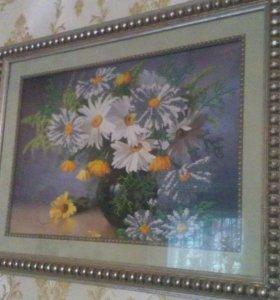 """Картина """"Ромашки в вазе"""""""