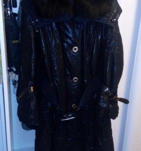 Куртка зимняя с мехом, женская