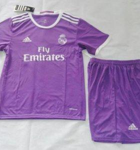 🔥футбольная форма Реала 2017 фиолетовая