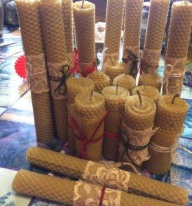 Свечи из вощины (воска) под заказ