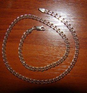 Позолоченная Цепочка из серебра