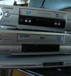 Видео магнитофоны 2шт и двд плеер Неисправные