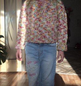 Модный свитер на девочку