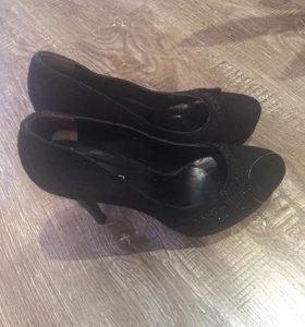 Замшевые туфельки. Новые