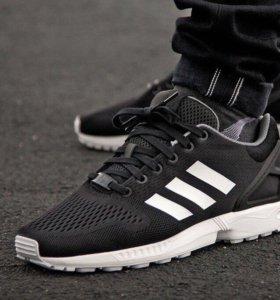Adidas zx flux черно-белые