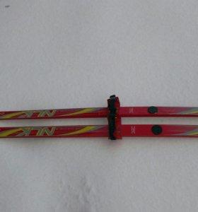 Лыжи детские деревянные