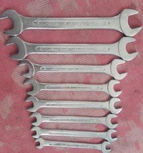 Ключи рожковые с 8по 22