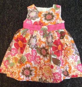 9-12 мес: Летнее нарядное платье M&Co