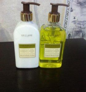 Набор из жидкого мыла и лосьона для рук
