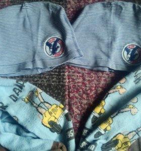 Шапочки и колготки для близнецов двойни 3-4 года