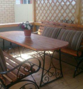 Скамейка,стол,лавка,садовая мебель.