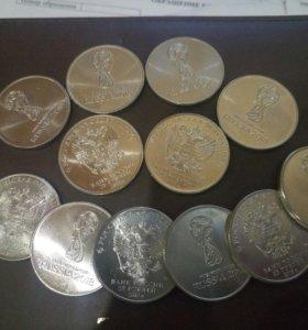 Монеты в честь фифы 2018