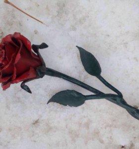 Роза кованая ручной работы