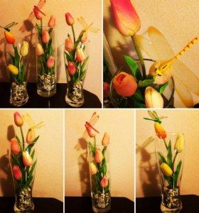 Топиарии, композиции из цветов на заказ