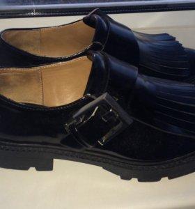 Ботинки туфли блюхерс Zara
