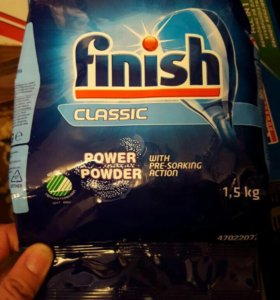 Порошок Finish для посудомойки 1,5 кг.