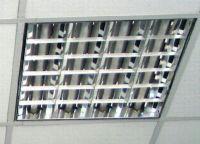 растровые квадратные светильники с люминесцентными
