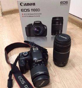 Зеркальный фотоаппарат Canon EOS 1100D в комплекте