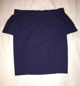 Новая юбка с баской