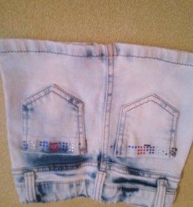 Юбка джинсовая на 3-4г
