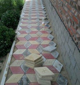 Тротуарная плитка , и асфальт