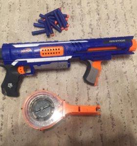 Бластер Nerf + 14 патронов