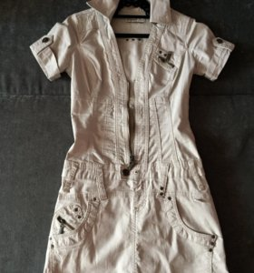 Джинсовое платье-сарафан, комбинезон