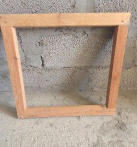 Рамы оконные деревянные 19шт б/у
