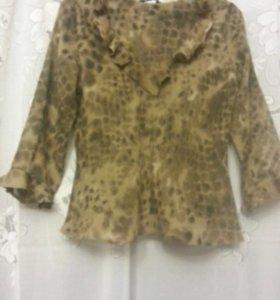 Блузка пятнистая бежево-коричневая Atmoshere
