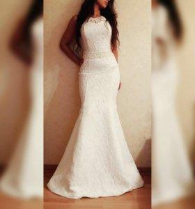 Свадебное платье. Фасон рыбка.